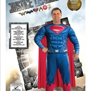 Large XL XXL Rubies Deluxe Superman Costume